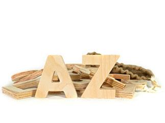 letras corporeas madera