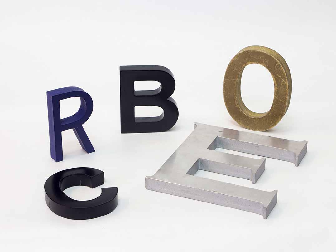 Letras corp reas para publicidad de logos y marcas reprofast - Letras para serigrafia ...