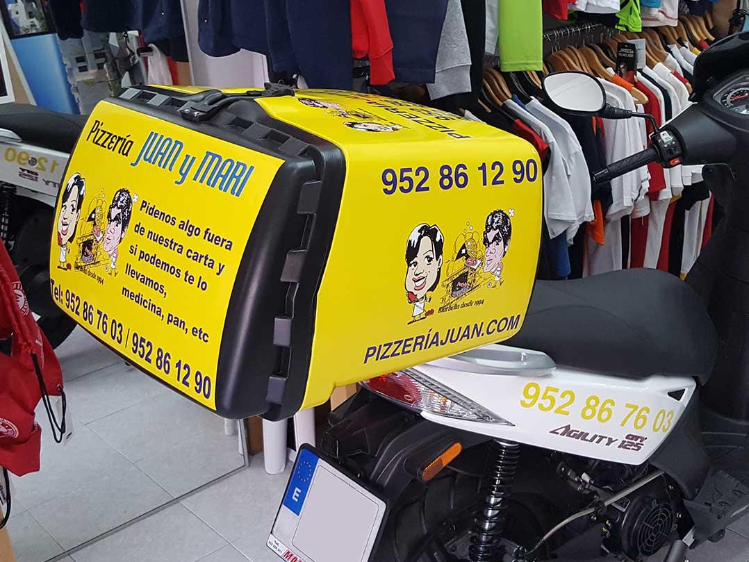 Rotulacion Moto - Vinilo De Impresión - Pizza Juan