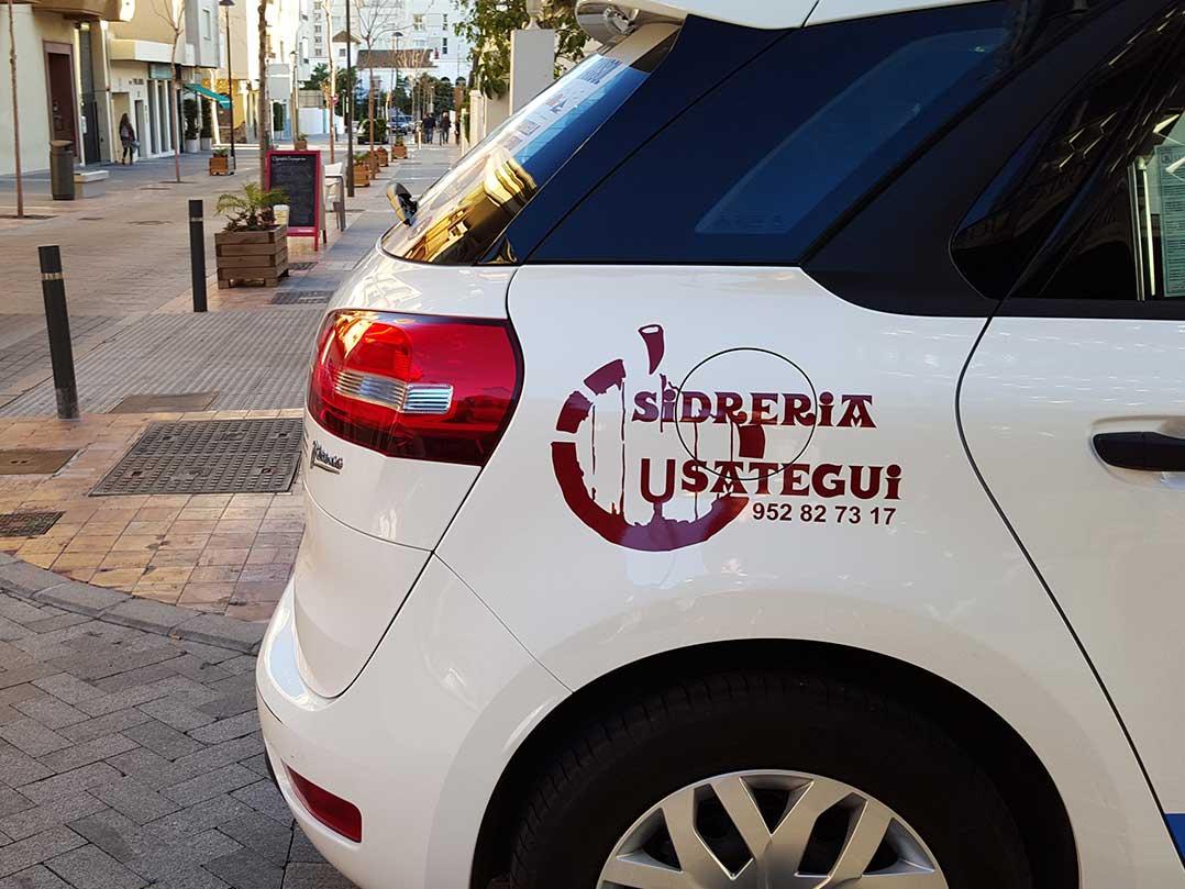 Rotulación De Taxi - Vinilo De Corte - Sidrería Usategui