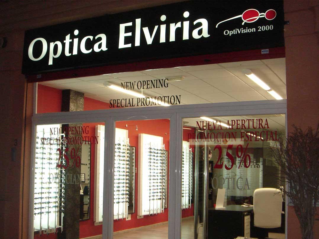 Rotulo Luminoso De Caja Luz - Óptica Elviria