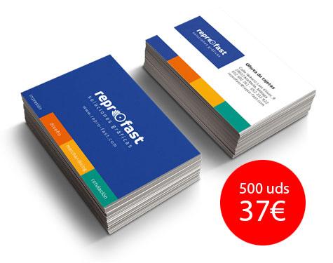 Oferta tarjetas de visita 37 euros