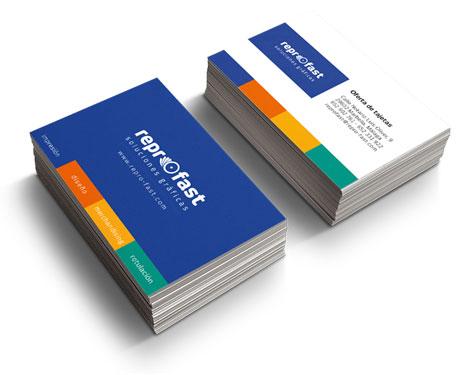 Oferta tarjetas de visita laminadas